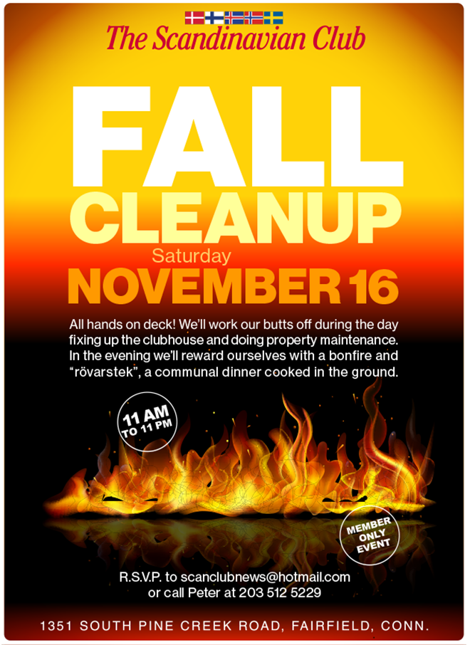 Fall Cleanup Day poster